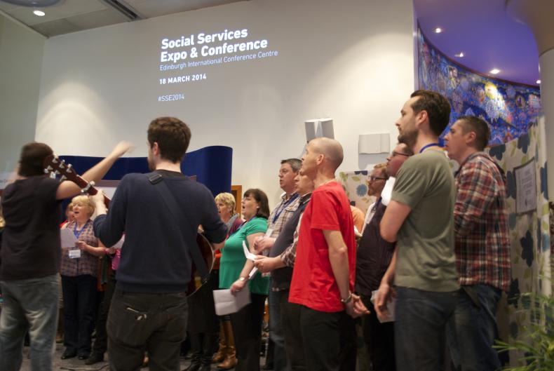 In full voice choir performance at Social Services Expo & Conference 2014
