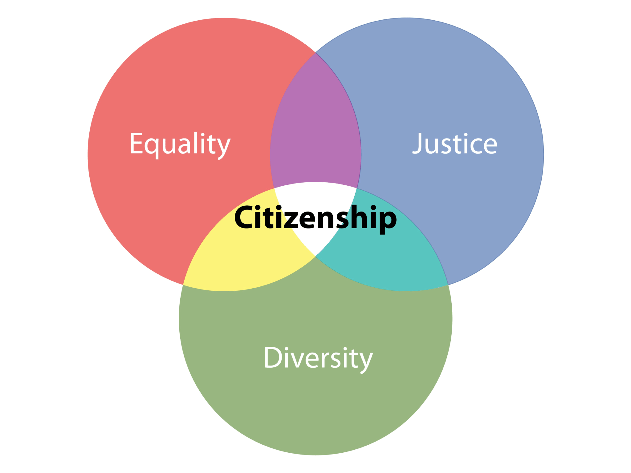 Equality, Justice, Citizenship, Diversity