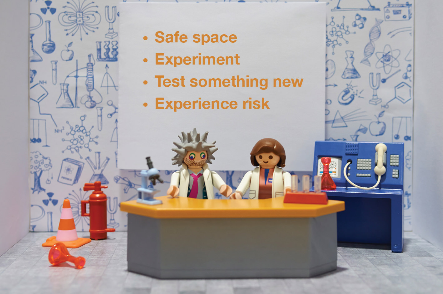 Safe space, Experiment, Test something new, Experience risk