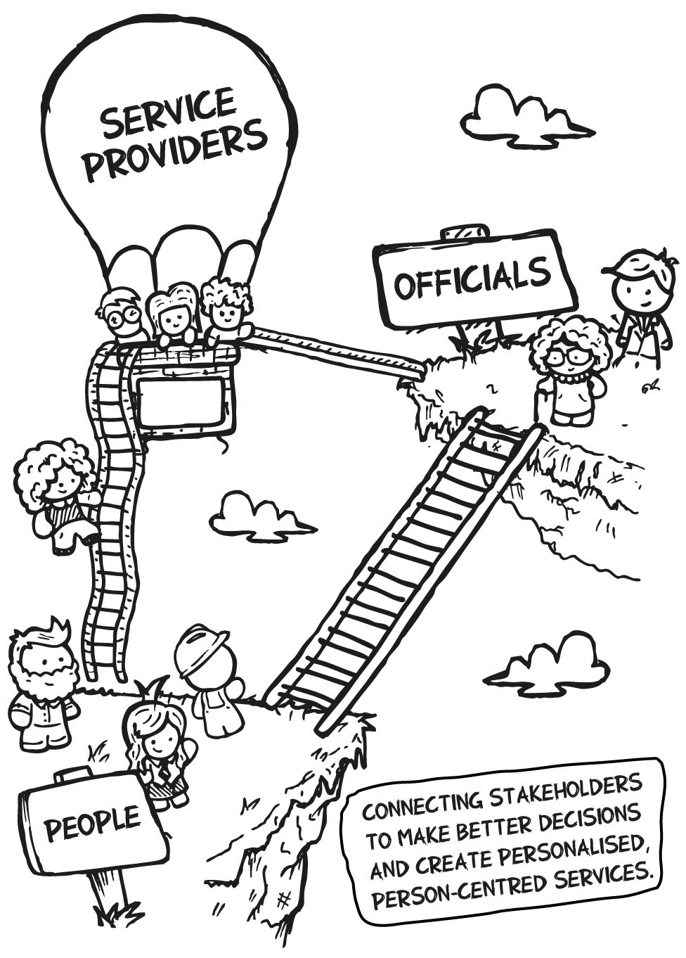 Connecting Service providers, Officials and People