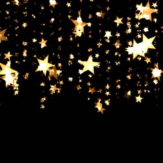 Gold stars in the sky