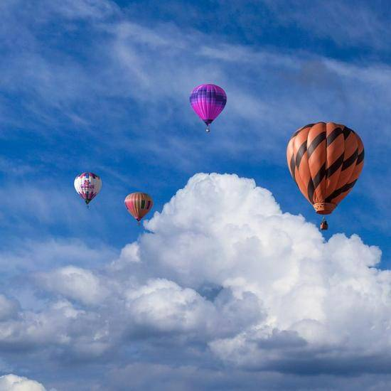 Colourful air balloons in the sky