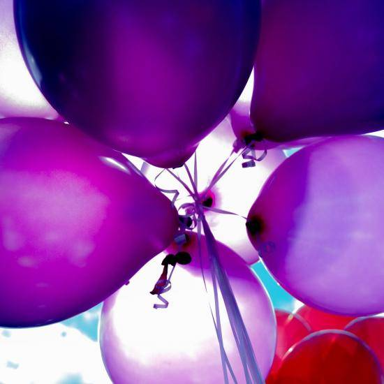 Group of purple balloons