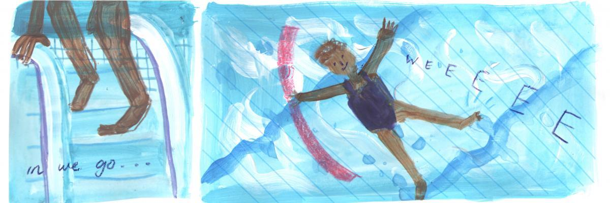 Illustration of a swimmer
