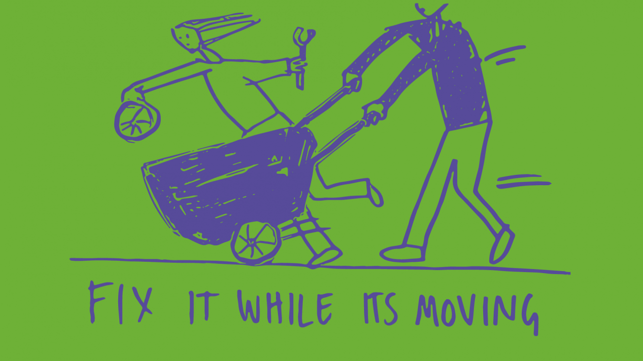 Fix it while it's moving