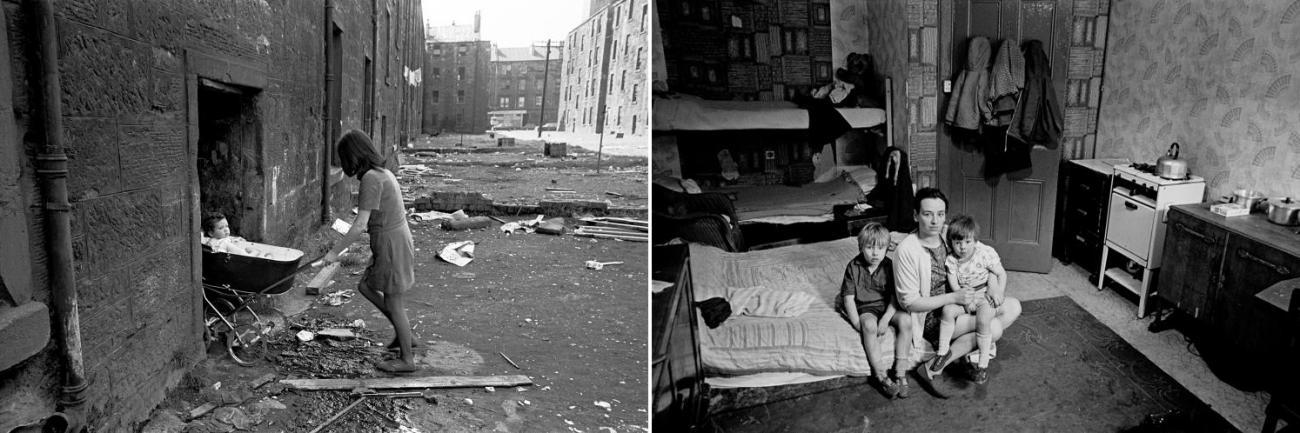 Glasgow tenements 1970/71. Photos by Nick Hedges