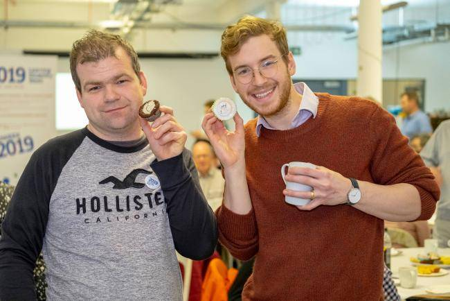 Michael McEwan with James Morton, Bake Off finalist