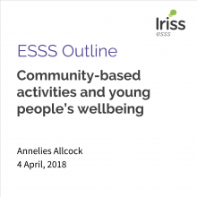 Community-based activities and young people's wellbeing
