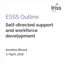 Self-directed support and workforce development