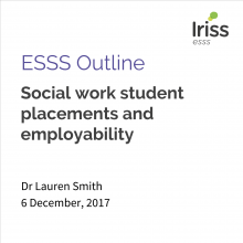 Social work student placements and employability