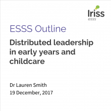 Distributed leadership in early years and childcare