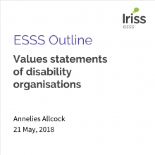 Values statements of disability organisations