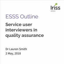 Service user interviewers in quality assurance thumbnail
