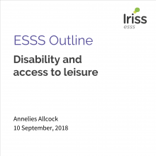 ESSS Outline: Disability and access to leisure