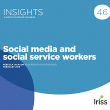 Social media and social service workers