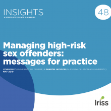 Managing high-risk sex offenders: messages for practice