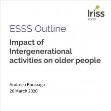ESSS Outline: Impact of Intergenerational activities on older people