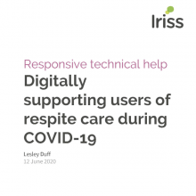 Digitally supporting users of respite care during COVID-19