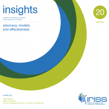 Insight 20 - Advocacy: Models and effectiveness