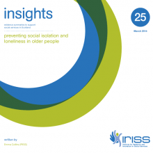 Insight 25 - Preventing loneliness and social isolation in older people