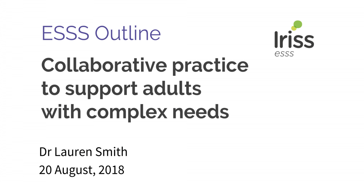 Collaborative practice to support adults with complex needs | Iriss