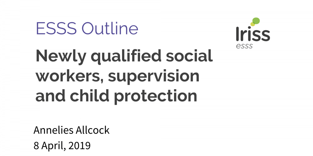 Newly qualified social workers, supervision and child