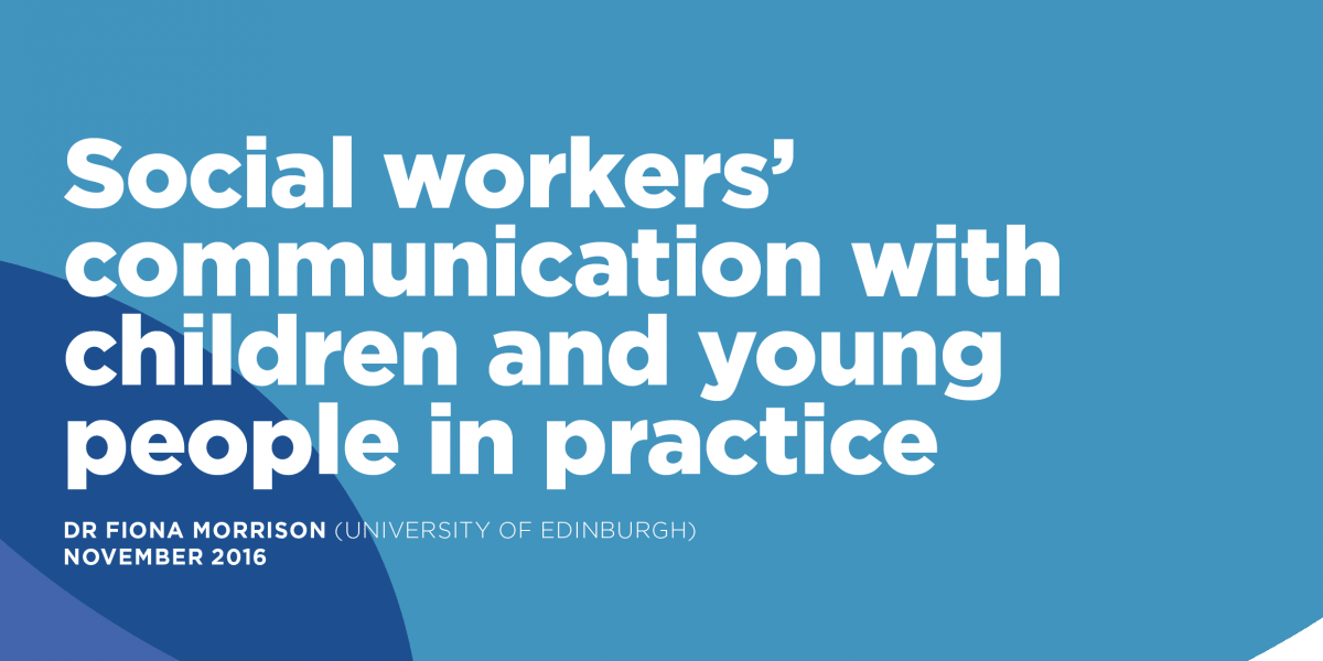 Social workers' communication with children and young people